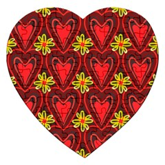 Digitally Created Seamless Love Heart Pattern Tile Jigsaw Puzzle (heart) by Simbadda