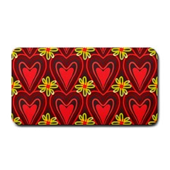 Digitally Created Seamless Love Heart Pattern Tile Medium Bar Mats by Simbadda