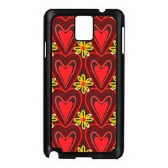 Digitally Created Seamless Love Heart Pattern Tile Samsung Galaxy Note 3 N9005 Case (black) by Simbadda