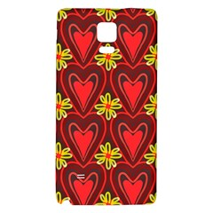 Digitally Created Seamless Love Heart Pattern Tile Galaxy Note 4 Back Case