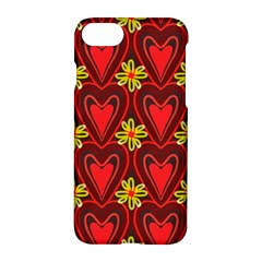 Digitally Created Seamless Love Heart Pattern Tile Apple Iphone 7 Hardshell Case by Simbadda