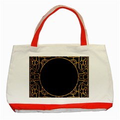 Abstract  Frame Pattern Card Classic Tote Bag (Red)