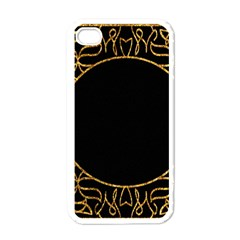 Abstract  Frame Pattern Card Apple Iphone 4 Case (white) by Simbadda