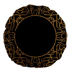 Abstract  Frame Pattern Card Large 18  Premium Flano Round Cushions by Simbadda