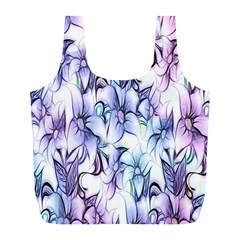 Floral Pattern Background Full Print Recycle Bags (l)  by Simbadda
