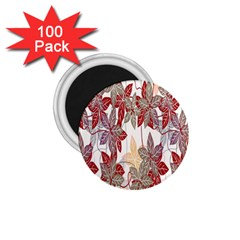 Floral Pattern Background 1 75  Magnets (100 Pack)  by Simbadda