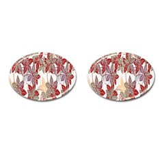 Floral Pattern Background Cufflinks (oval) by Simbadda