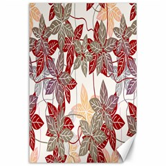 Floral Pattern Background Canvas 24  X 36  by Simbadda