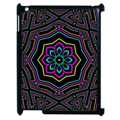 Cyan Yellow Magenta Kaleidoscope Apple Ipad 2 Case (black) by Simbadda
