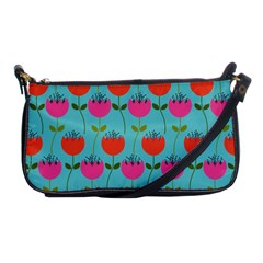 Tulips Floral Background Pattern Shoulder Clutch Bags by Simbadda