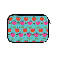 Tulips Floral Background Pattern Apple Ipad Mini Zipper Cases by Simbadda