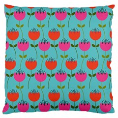 Tulips Floral Background Pattern Standard Flano Cushion Case (two Sides) by Simbadda