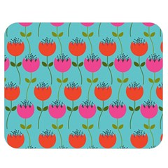 Tulips Floral Background Pattern Double Sided Flano Blanket (medium)  by Simbadda