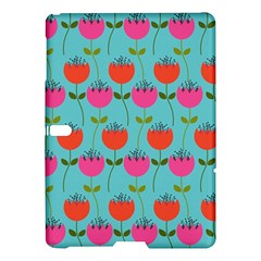 Tulips Floral Background Pattern Samsung Galaxy Tab S (10 5 ) Hardshell Case  by Simbadda