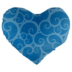 Pattern Large 19  Premium Heart Shape Cushions by Valentinaart