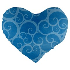 Pattern Large 19  Premium Flano Heart Shape Cushions by Valentinaart
