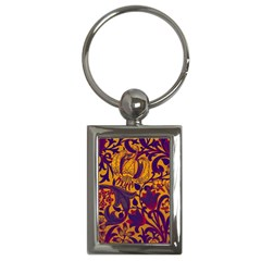 Floral Pattern Key Chains (rectangle)  by Valentinaart