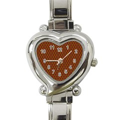 Lunares Pattern Circle Abstract Pattern Background Heart Italian Charm Watch by Simbadda