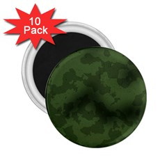 Vintage Camouflage Military Swatch Old Army Background 2 25  Magnets (10 Pack)  by Simbadda