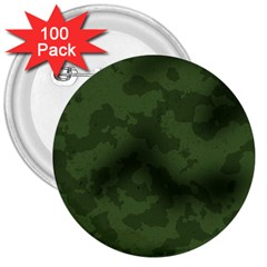 Vintage Camouflage Military Swatch Old Army Background 3  Buttons (100 Pack)  by Simbadda