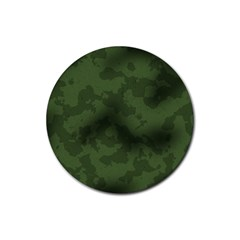 Vintage Camouflage Military Swatch Old Army Background Rubber Round Coaster (4 Pack)  by Simbadda