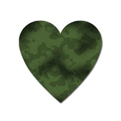 Vintage Camouflage Military Swatch Old Army Background Heart Magnet by Simbadda