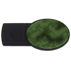 Vintage Camouflage Military Swatch Old Army Background Usb Flash Drive Oval (2 Gb) by Simbadda