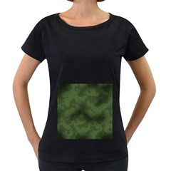 Vintage Camouflage Military Swatch Old Army Background Women s Loose Fit T Shirt (black) by Simbadda