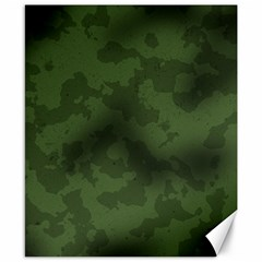 Vintage Camouflage Military Swatch Old Army Background Canvas 8  X 10  by Simbadda