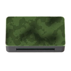 Vintage Camouflage Military Swatch Old Army Background Memory Card Reader With Cf by Simbadda