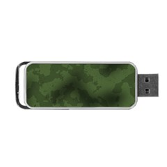 Vintage Camouflage Military Swatch Old Army Background Portable Usb Flash (two Sides) by Simbadda