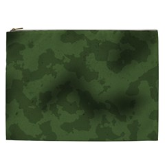 Vintage Camouflage Military Swatch Old Army Background Cosmetic Bag (xxl)  by Simbadda
