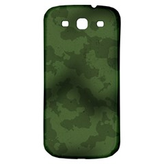 Vintage Camouflage Military Swatch Old Army Background Samsung Galaxy S3 S Iii Classic Hardshell Back Case by Simbadda