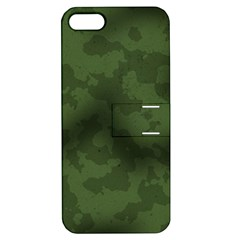 Vintage Camouflage Military Swatch Old Army Background Apple Iphone 5 Hardshell Case With Stand by Simbadda