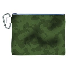 Vintage Camouflage Military Swatch Old Army Background Canvas Cosmetic Bag (xxl) by Simbadda
