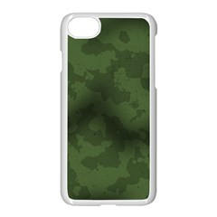 Vintage Camouflage Military Swatch Old Army Background Apple Iphone 7 Seamless Case (white) by Simbadda
