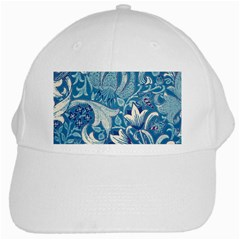Floral Pattern White Cap by Valentinaart