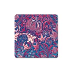 Floral pattern Square Magnet