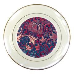 Floral Pattern Porcelain Plates by Valentinaart