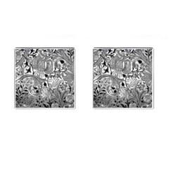 Floral Pattern Cufflinks (square) by Valentinaart