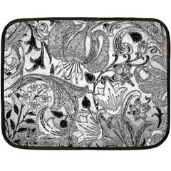 Floral Pattern Fleece Blanket (mini) by Valentinaart