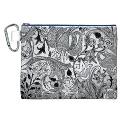 Floral Pattern Canvas Cosmetic Bag (xxl) by Valentinaart
