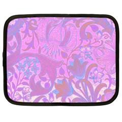 Floral Pattern Netbook Case (xxl)  by Valentinaart