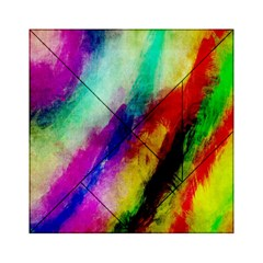 Colorful Abstract Paint Splats Background Acrylic Tangram Puzzle (6  X 6 ) by Simbadda