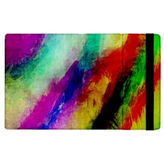 Colorful Abstract Paint Splats Background Apple Ipad 3/4 Flip Case by Simbadda