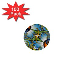 Random Fractal Background Image 1  Mini Buttons (100 Pack)  by Simbadda