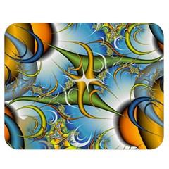 Random Fractal Background Image Double Sided Flano Blanket (medium)  by Simbadda