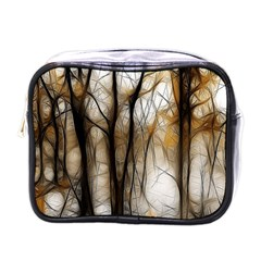 Fall Forest Artistic Background Mini Toiletries Bags by Simbadda