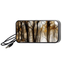 Fall Forest Artistic Background Portable Speaker (black) by Simbadda