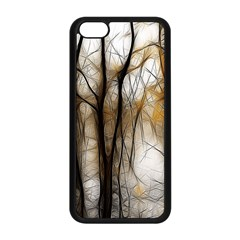 Fall Forest Artistic Background Apple Iphone 5c Seamless Case (black) by Simbadda
